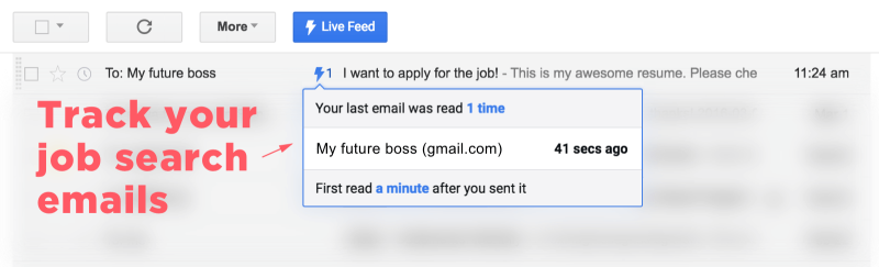 Track your job search emails with Mixax or Streak.