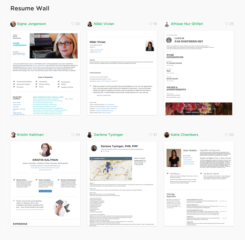 The wall of cakeresume