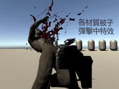 敵人生成/肢解效果和子彈受擊特效Demo