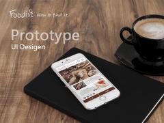 專案設計FOODIN美食社群平台(Adobe XD)Prototype