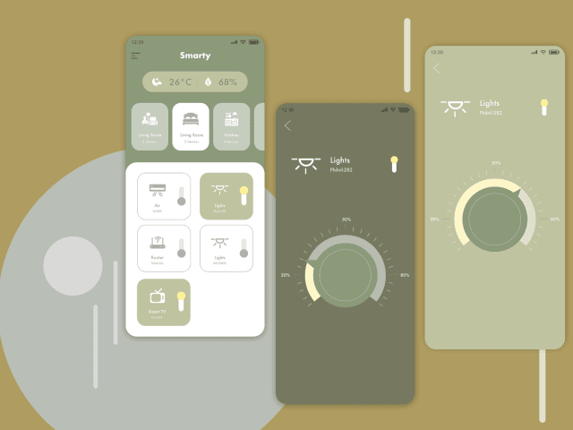Home Monitoring APP UI