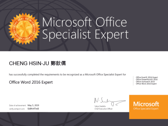 Office Word 2016 Expert