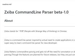 Zxiba Commandline parser