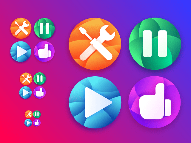 Icons design exercise