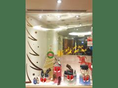 阿瘦聖誕節櫥窗