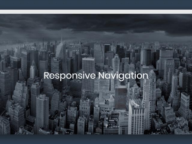 練習作品 - Responsive Navigtion