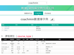 mysql數據庫字典生成工具 PHP版