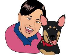 Q版人物與動物插圖