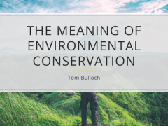 The Meaning of Environmental Conservation