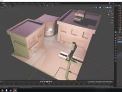 Blender 3d街道模型圖