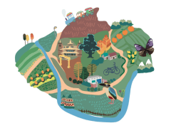 地圖插圖 / map illustration