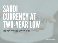 Saudi Currency at Two-Year Low