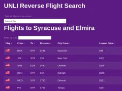 Reverse Flight Search