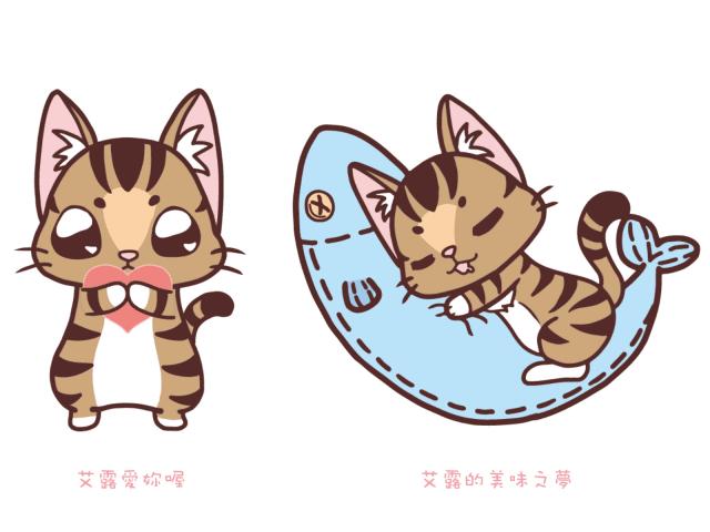 [角色設計]自家貓咪的形象設計