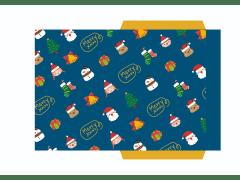 聖誕節信封設計