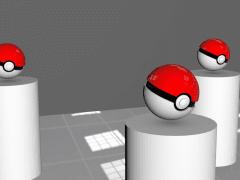 C4D精靈寶貝球小創作-pokemo ball