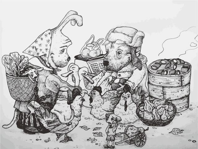 狗狗系列插畫