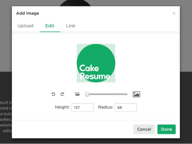 CakeResume Image Cropper