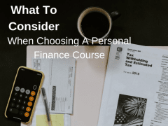 What To Consider When Choosing A Personal Finance