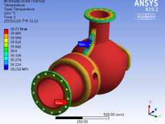 ANSYS Thermal Structural Analysis Throttle Valve