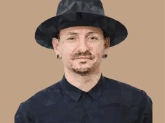 Linkin Park Chester 像素畫