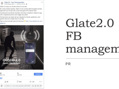 Glate 2.0 crowdfunding Social media management