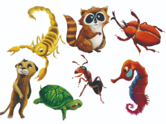 卡通化動物