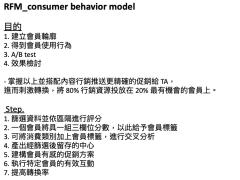 客戶消費行為標籤