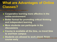 Boostmygrade review : Advantages of Online Classes