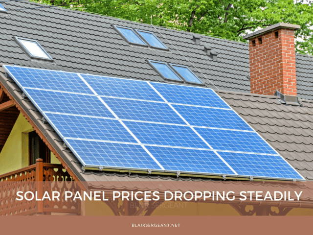 Solar Panel Prices Dropping Steadily