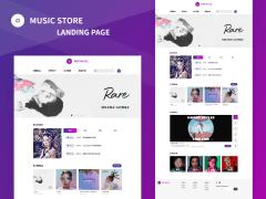 唱片行音樂網站 UI 設計