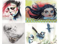 手繪作品 / Marker pen / Acrylic / Sketch/ Color pencil