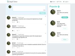 【前端作品】小型社群網站 (Simple Twitter)