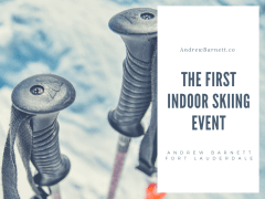 The First Indoor Skiing Event