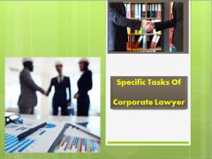 Corporate Lawyer Specific Tasks | Franklin I. Ogel