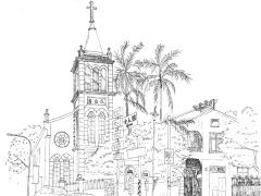 建築物插畫手繪