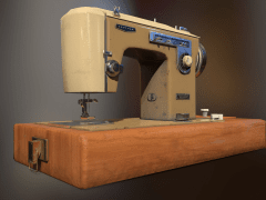3D硬表面建模Sewing machine
