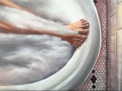 油畫作品 - Bethroom