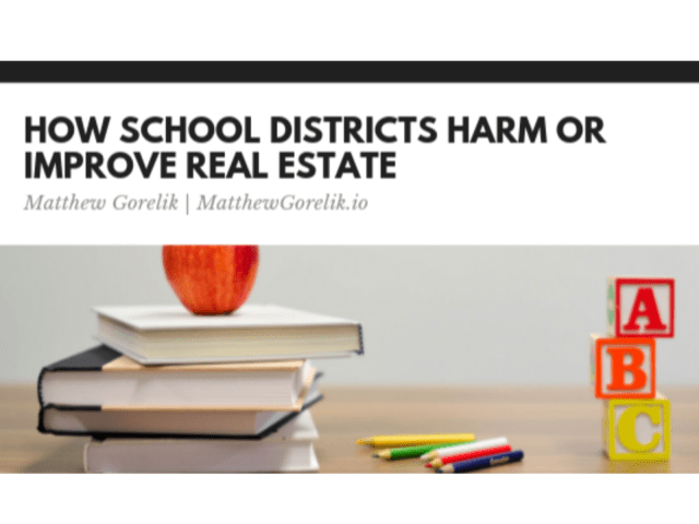 How School Districts Harm or Improve Real Estate