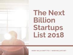 The Next Billion Startups List 2018