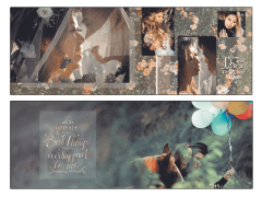2 pages of a wedding album