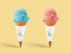 !ce cream-品牌Logo及相關視覺發想