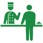 飯店服務人員 logo