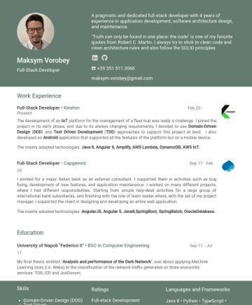 Full Stack Developer Contoh CV