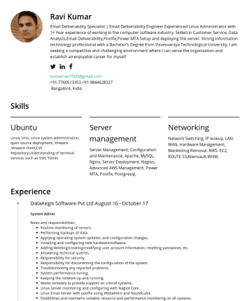 Data Engineering Resume Examples