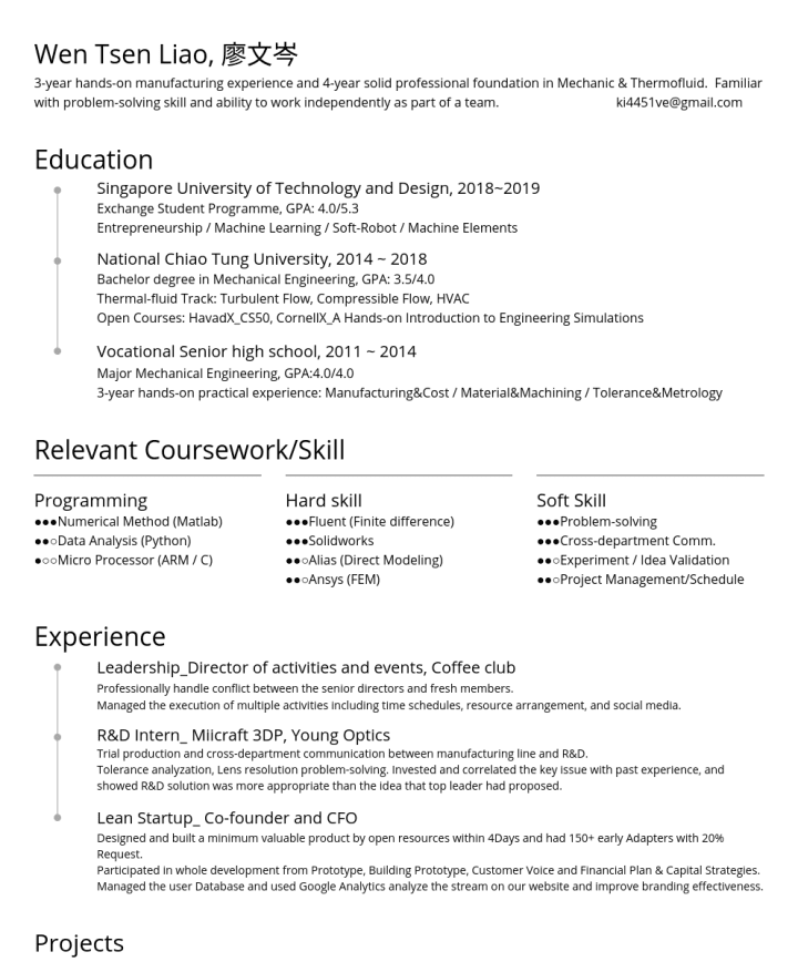 Solidworks Resume Cv Examples Cakeresume