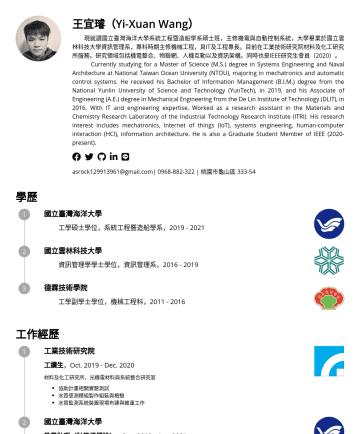 研究 / 研發履歷範本