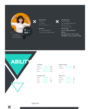 UI/UX設計師 Resume Examples -